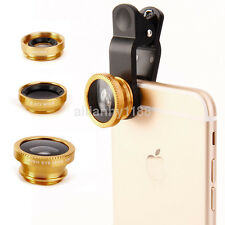 3 in1 Fisheye Wide Angle Macro Camera Clip-on Lens For Smart Cell Phone Tablet