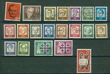 Berlin Jahrgang 1961 , gestempelt ,  Auswahl aus Michel Nr. 197 -217