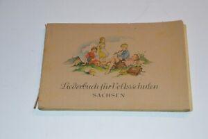 Sing Fibel Liederbuch für Volksschulen Sachsen RAR !!!!