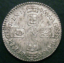 More details for 1696 aunc william iii silver sixpence esc 1533  cgs 70, ms60-61