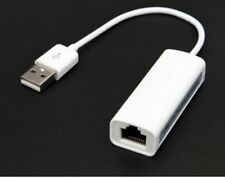 Adaptador Ethernet USB a LAN RJ45 para Laptop Ultrabook, Notebook Blanco MAC PC