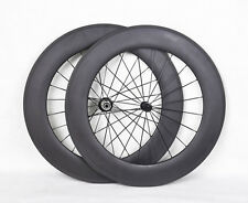 88mm Tubular Carbon Wheelset 700C Road TT Bike Rim Cycling Powerway Hub 3k Matt