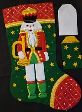 "Finished Bucilla ""Christmas Classic Nutcracker 18""ChristmasStockingHandstitched"