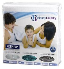 Mattress Protector Waterproof Pad Fitted Hypoallergenic Cotton Terry King Size
