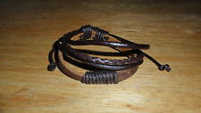Wristband Brown Leather Bracelet Bangle