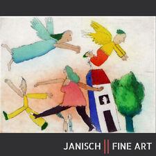 """JANOSCH - """"Die Leute oben + die Leute unten"""", handsignierte Farbradierung, 2013!"""