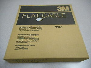 3M 3365/26SF 80-6102-0198-2 FLAT CABLE,28AWG STR 9MIN MIL AVG INSULATION ~~ 60FT
