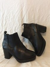 Ladies Wide Fit Black Ankle Boots Size 7