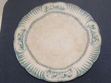 ANCIEN GRAND PLAT DOULTON' S COBURE A DECOR D OISEAUX 30.7 cm FAIENCE ANGLAISE