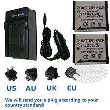NEW 2pcs Battery+Charger for Fuji NP-50 NP-50A FujiFilm FinePix F50fd F550EXR