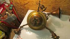 Antique Brass 3 Arm Chandelier- Original finish