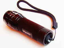 powerful pocket torch adjustable focus & 3 functions high/low/strobe batteries i