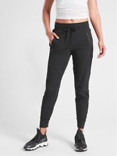 ATHLETA Trekkie North Jogger Pants 4P SP PETITE Black Hiking Joggers Fitness NEW