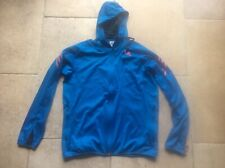 RARE Men's Large ADIDAS Blue with Pink Emblem Tracksuit Hoodie 2017 micoach.com