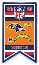 2021 Semaine 6 Bannière Broche NFL Baltimore Ravens San Diego Super Bol Relié