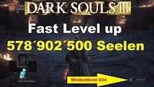 Dark Souls 3 ☆ PS4 ☆ 578´902´500 SEELEN ☆ + 3 BOSSWAFFEN  ☆ ALLE 107 RINGE  ☆