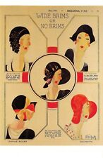Nostalgia Postcard Hat Fashions 1929 Fashion Reproduction Card NS29
