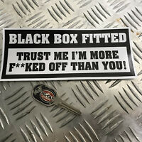 1X BLACK BOX FITTED FUNNY CAR STICKER DECAL YOUNG DRIVER BUMPER VINYL