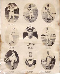 1940s VINTAGE 9 BLACK BASEBALL PLAYERS ROOKIE PHOTO JACKIE ROBINSON CAMPANELLA