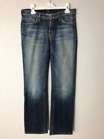 """7 for all Mankind Jeans Size 27 Bootcut Blue Denim Inseam 30"""""""