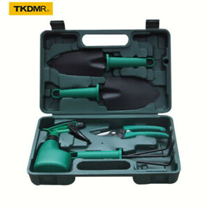 10Pcs Gardening Plant Tool Set Garden Yard Plant Flower Care Hand Tools w/ Case