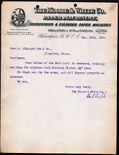 1900 Cylinder Paper Machines - Moore & White Co - Philadelphia Pa - Letter Head
