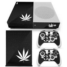 Xbox One S Console Skin Decal Sticker Black Weed Marijuana Custom Design Set