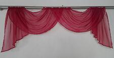 Doppelbogen 190 bis 220 cm breit Querbehang mit Schärpen Voile transparent