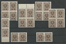 Österreich 1920-1921 Wappenzeichnung Plattenfehler ** u gestempelt