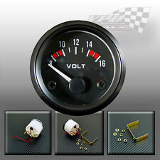 """Volt gauge battery 8-16v 52mm / 2"""" universal charger classic panel car boat van"""