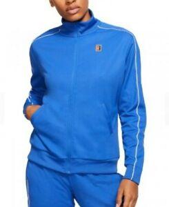 NikeCourt Essential Warm Up Training Jacket -  Blue, White SIZE MEDIUM