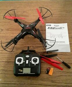 SYMA X5C RC Drone 2.4Ghz 4CH Remote Control Helicopter Quadcopter Black *READ*