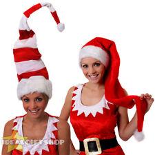TALL SANTA HATS FATHER CHRISTMAS MRS CLAUS XMAS FANCY DRESS MENS WOMENS GIFT