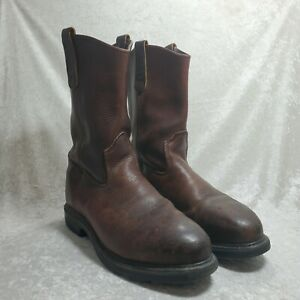 Red Wing Mens 4470 Brown Pecos Leather Steel Toe ASTM F2413-05 Boots Size 9.5 E