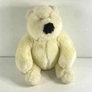 Vintage Gund Polar Bear Stuffed Plush Toy 18cm Tall