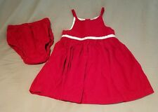 toddler holiday Christmas red dress babyGap 12-18 months