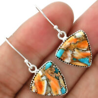 Spiny Oyster Turquoise - Arizona 925 Sterling Silver Earrings Jewelry 5296
