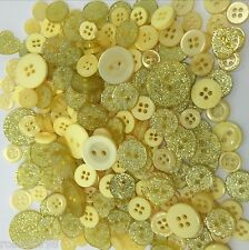 Deluxe Big Bag Of Glitter/Plain Resin Button Mix Available in 10 Colours