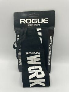 """Rogue Fitness Wrist Wraps Available (Black/White, 18"""") Sports"""