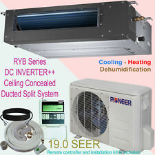 18000 BTU PIONEER Inverter+ Ducted Ceiling Concealed Split Heat Pump + Inst. Kit