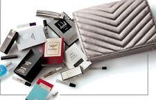Neiman Marcus Silver Bronze Chevron Clutch Bag Purse Perfume Fragrance Samples