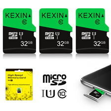 High Speed Memory Card 3 Pack 32GB Micro SDHC Class 10 UHS-I TF SD Card Green