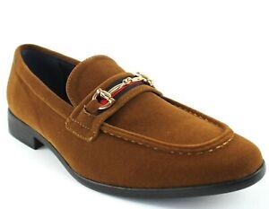 Suede Buckle Slip On Moccasins Men's Dress Fashion Shoes Formal  Size : 6.5--13