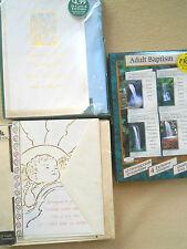 Vintage Spiritual religious Batism & Christmas Greeting cards