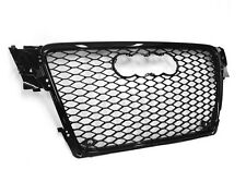 Grill RS4 Typ Schwarz Glanz Audi A4 S4 B8 8K 2007-2012 Wabengrill Frontgrill