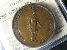 LC-9A2 ICCS AU-50 One Penny token 1837 Bas Lower Canada Quebec Breton 521