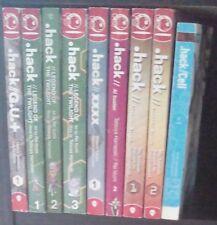 .hack Lot of 9 Manga and Light Novels, English, 13+, Tatsuya Hamazaki