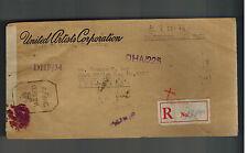 1945 Chunking China Censurado Registro Cubierta a Australia United Artistas