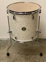 """Sonor Force 2005 Full Birch Special Edition Pearl White Floor Tom 16X16"""""""