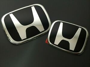JDM ENDLESS X2 BLACK FRONT REAR EMBLEM BADGE FOR ACCORD EURO CL7 CL9 2003-2007